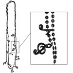 Black Musical Notes Beads (6/pkg)