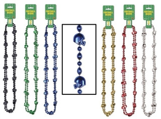 Pack of 2 Football Beads (Choose Color)