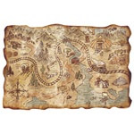 Plastic Gold Mine Treasure Map