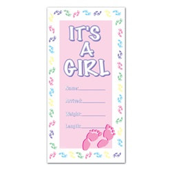 It's A Girl Door Cover