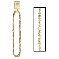 Gold Happy Anniversary Beads-Of-Expression (2/pkg)