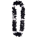 Black and White Silk N Petals Elegance Leis (1/pkg)