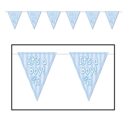 It's A Boy Pennant Banner