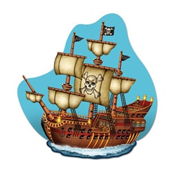 Pirate Ship Wall Plaque