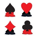 Card Suit Playmates (4/pkg)