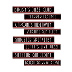 Gangster Street Sign Cutouts (4/pkg)