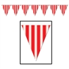 Red and White Striped Pennant Banner