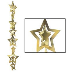 3-D Gold Prismatic Star Gleam N Garland