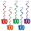 Number 100 Whirls (5/pkg)