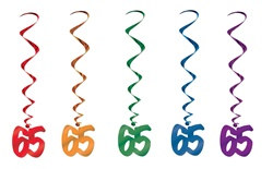 65th Birthday Whirls (5/pkg)