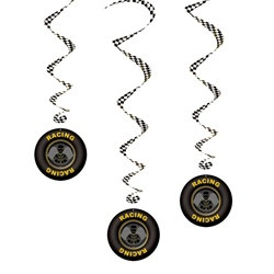 Race Car Whirls (3/pkg)