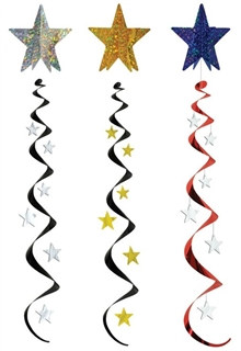 4' Black and Gold Jumbo Star Whirl (Choose Color)