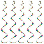 Printed Stripes Twirly Whirlys (5/pkg)