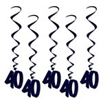 Black 40 Whirls (5/pkg)