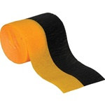 Black and Golden Yellow Flame Retardant Crepe Streamer