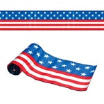 Satin Patriotic Table Runner