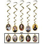 Faces In History Whirls (5/pkg)