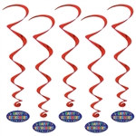 Happy Retirement Whirls (5/pkg)