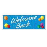 Welcome Back Sign Banner