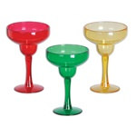 Red, Gold and Green Margarita Shot Glasses (6/pkg)