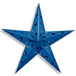Blue Dimensional Foil Star (24 inch)