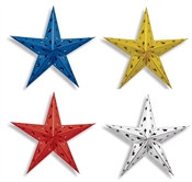 "24"" Blue Dimensional Foil Star (Choose Color)"