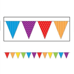Dots & Stripes Pennant Banner