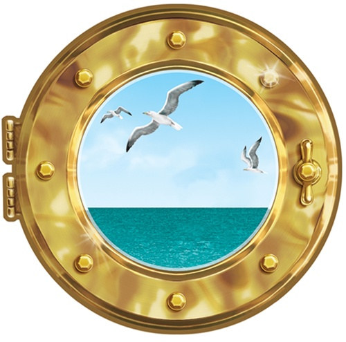 Cruise Ship Porthole Peel N Place Decal Partycheap