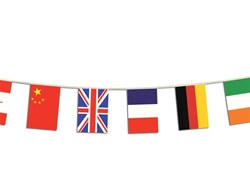 International Flag Banner (12 Countries)