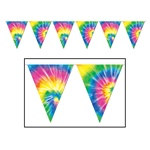 Tie-Dyed Pennant Banner