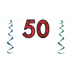 50th Glittered Streamer