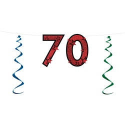 70th Glittered Streamer