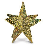 Gold 3-D Prismatic Star Centerpiece