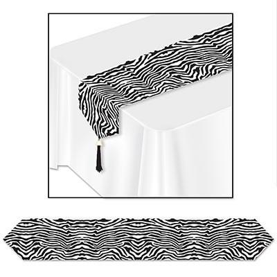 Printed Zebra Print Table Runner