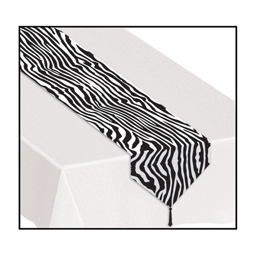 Printed Zebra Print Table Runner