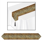 Printed Leopard Print Table Runner