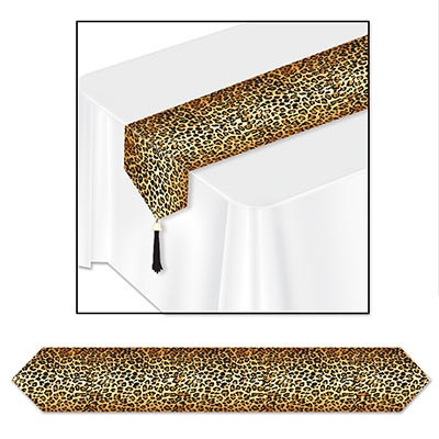 High Quality Printed Leopard Print Table Runner