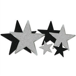Glittered Star Cutouts