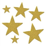 Glittered Foil Star Cutouts