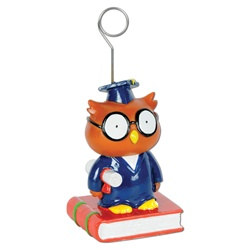 Owl Graduate Photo/Balloon Holder