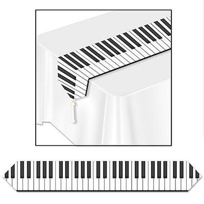 Printed Piano Keyboard Table Runner