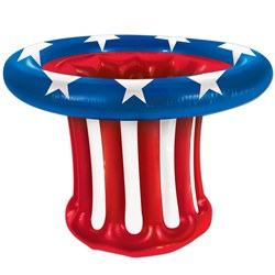 Inflatable Patriotic Hat Cooler