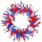 Red, White, and Blue Feather Wreath