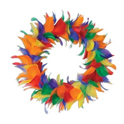 Rainbow Feather Wreath (12 inch)