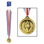 Gold Medal with Ribbon
