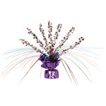 Retro Flower Gleam N Spray Centerpiece