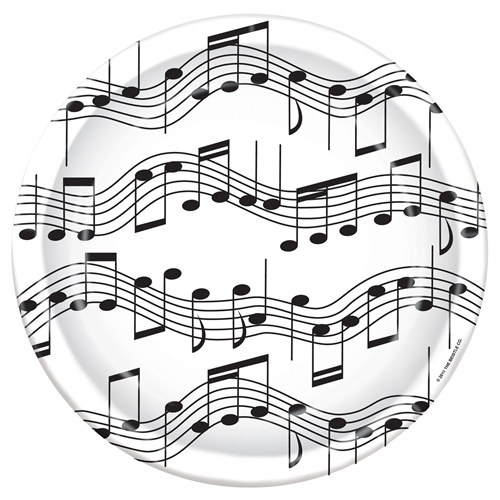 musical note lunch plates partycheap 100th Birthday Celebration Ideas musical note lunch plates