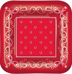 Bandana Lunch Plates (8/pkg)