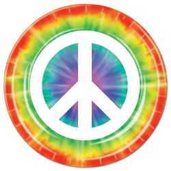 Peace Sign Lunch Plates (8/pkg)