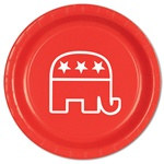 Red Republican Plates (8/pkg)